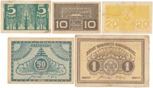 Estonia, 5 Penni - 1 Mark 1919 (5szt)