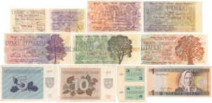 Lithuania, set of banknotes from 1991-94 years (11pcs)