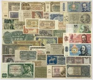 Czechoslovakia, big lot of banknotes (36pcs)