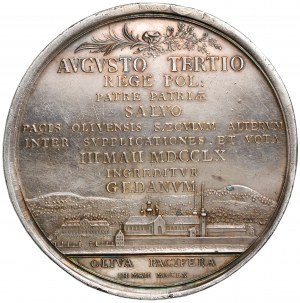 August III Sas, Medal 100-lecie pokoju oliwskiego 1760 r. - z pudełkiem