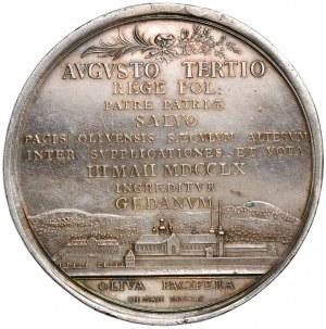August III Sas, Medal 100-lecie pokoju oliwskiego 1760 r.