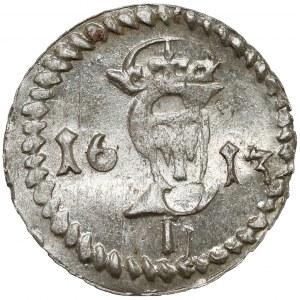 Zygmunt III Waza, Dwudenar Wilno 1613 - piękny