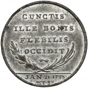 Francja, Ludwik XVI, Żeton pośmiertny 1793 - rzadki
