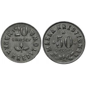 Kowel, 50. Pułk Strzelców Kresowych, 20 i 50 groszy (2szt)