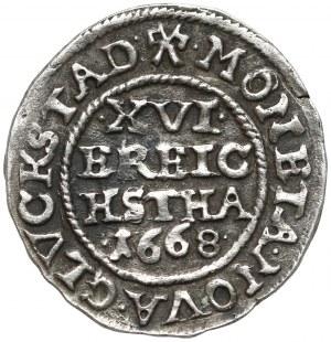 Dania, Fryderyk III, 1/16 talara 1668