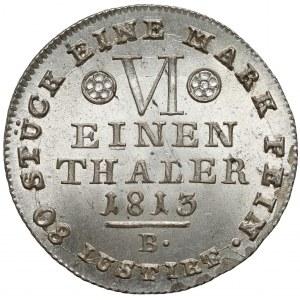 Westfalen, Jérôme Bonaparte, 1/6 Taler 1813 B