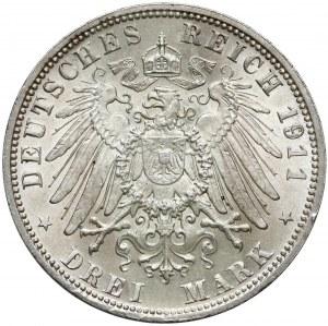 Bayern, 3 mark 1911 D
