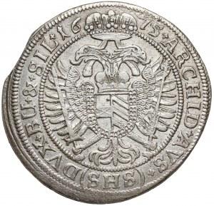 Śląsk, Leopold I, 15 krajcarów 1675 SHS, Wrocław