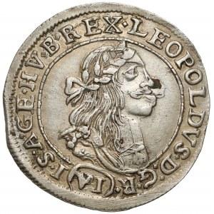 Węgry, Leopold I, 6 krajcarów 1674 KB, Kremnica
