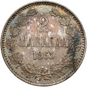Finlandia / Rosja, Mikołaj II, 2 marki 1865