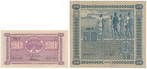 Finlandia, 20 i 50 Markkaa 1939 (2szt)