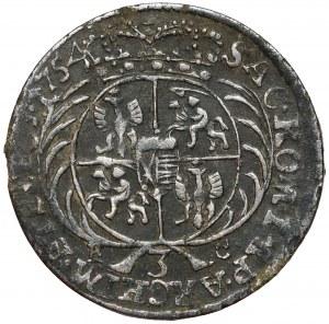 August III Sas, Trojak Lipsk 1754