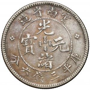 Chiny, Yunnan, 50 Fen (1908)