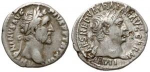 Cesarstwo Rzymskie, Zestaw denarów - Trajan i Antoninus Pius (2szt)