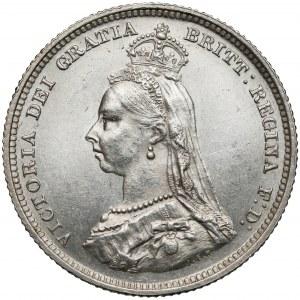 Wielka Brytania, Wiktoria, Szyling 1887