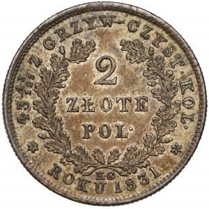 Powstanie Listopadowe, 2 złote 1831 KG - bez pochwy