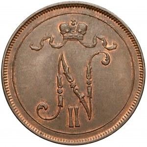 Finlandia / Rosja, Mikołaj II, 10 penniä 1898 - b.rzadkie