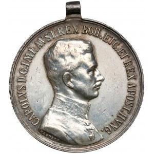 Austro-Wegry, Karol I, Medal za odwagę - srebrny