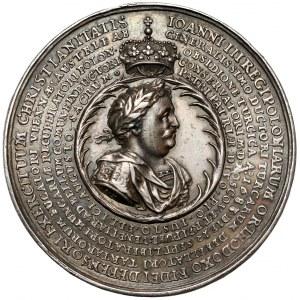 Jan III Sobieski, Medal Święta Liga 1684 (Höhn) - b.ładny