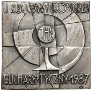 Plakieta SREBRO II Krajowy Kongres Eucharystyczny 1987