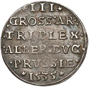 Prusy, Albrecht Hohenzollern, Trojak Królewiec 1535