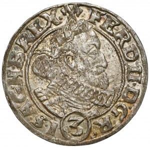 Śląsk, Ferdynand II, Wrocław, 3 krajcary 1630 HR - piękny