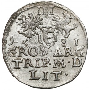 Stefan Batory, Trojak Wilno 1581 - duża tarcza