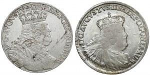 August III Sas, Orty Lipsk 1754 i 1756 (2szt)