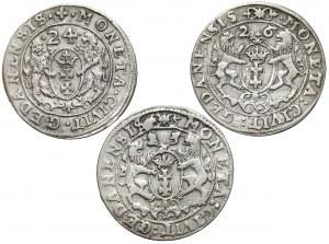 Orty gdańskie Zygmunta III Wazy - zestaw (3szt)
