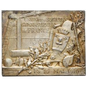 Francja, Medal związek towarzystw gimnastycznych we Francji 1910