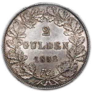 Frankfurt, 2 gulden 1852