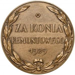 Medal, Za konia remontowego 1929 - nagroda Ministerstwa Spraw Wojskowych - RZADKOŚĆ