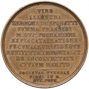 Medal, Poznań, Zerboni di Sposetti 1825