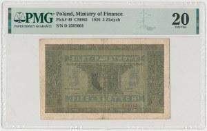 5 złotych 1926 - Ser.D