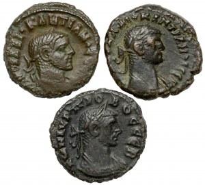 Prowincje rzymskie - zestaw tetradrachm z Aleksandrii (3szt)