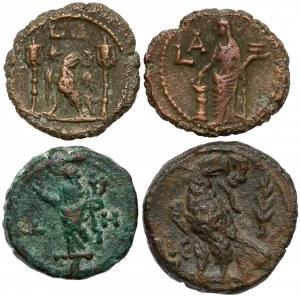 Prowincje rzymskie - zestaw tetradrachm z Aleksandrii (4szt)
