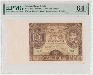 100 złotych 1934 - dwie kreski w znaku wodnym