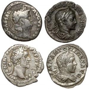 Cesarstwo Rzymskie, zestaw denarów (4szt) - w tym NERON