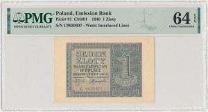 1 złoty 1940 - C