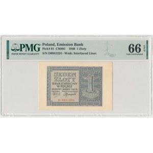 1 złoty 1940 - D