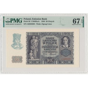 20 złotych 1940 - A