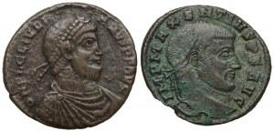 Cesarstwo Rzymskie, Zestaw monet brązowych - Maksencjusz i Julian II Apostata (2szt)