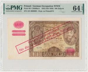 100 złotych 1932 z ORYGINALNYM przedrukiem GG