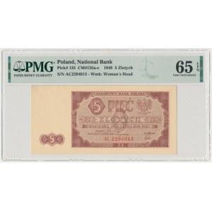 5 złotych 1948 - AC