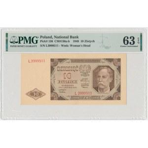 10 złotych 1948 - L