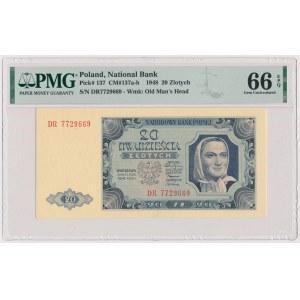 20 złotych 1948 - DR