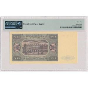 20 złotych 1948 - GS - papier prążkowany