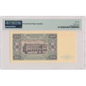 20 złotych 1948 - HM 9802... papier PLASTYFIKOWANY jasny - RZADKOŚĆ