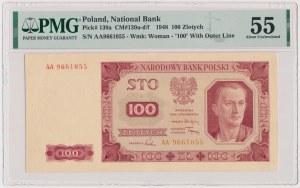 100 złotych 1948 - AA