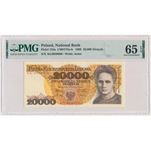 20.000 złotych 1989 - AG